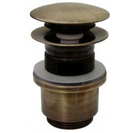 Βαλβίδα νιπτήρα κλικ με υπερχείλιση 60cm Bronze