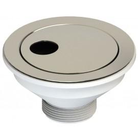 """Βαλβίδα νεροχύτου Saturno 1 1/2"""" Φ114 με πύρο χρωμέ LB Plast"""