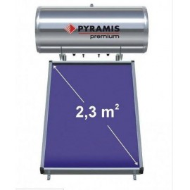 Ηλιακός θερμοσίφωνας 160lt Premium Pyramis